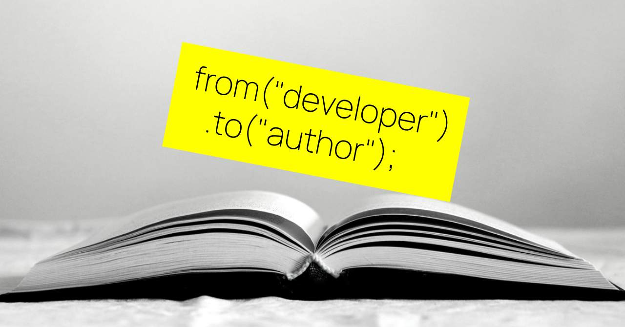 From developer to author: how I wrote a book