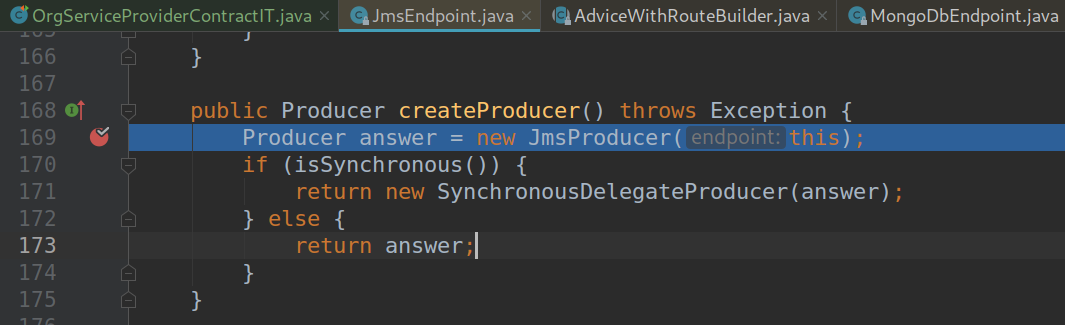 Camel JMS component createProducer is invoked even when mocked
