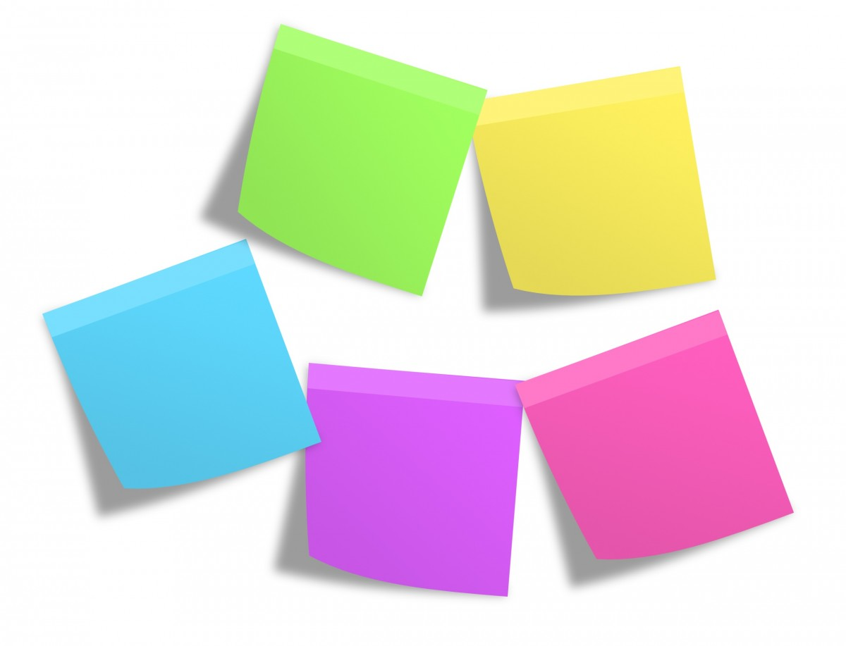 Graphic of sticky notes